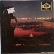 Discos de vinilo: FRANK CHACKSFIELD AND HIS ORCHESTRA. IMMORTAL SERENADES: ROMEO & JULIET + 3. DECCA, UK 1958 EP. Lote 247440460