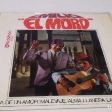 Discos de vinilo: EMILIO EL MORO - HISTORIA DE UN AMOR /MALEVAJE /ALMA LLANERA /CUMPARSITA - EP 1968. Lote 247450705