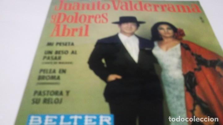JUANITO VALDERRAMA - DOLORES ABRIL / MI PESETA + 3 (EP.BELTER 1968) (Música - Discos de Vinilo - EPs - Flamenco, Canción española y Cuplé)