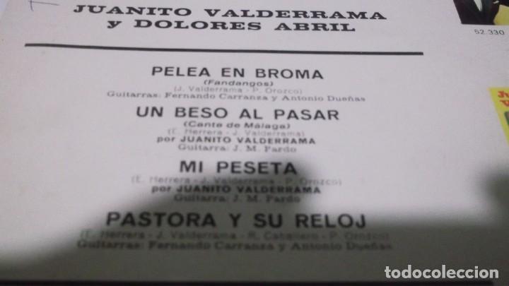 Discos de vinilo: JUANITO VALDERRAMA - DOLORES ABRIL / MI PESETA + 3 (EP.BELTER 1968) - Foto 3 - 247450740