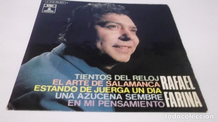 RAFAEL FARINA / TIENTOS DEL RELOJ / ESTANDO DE JUERGA UN DIA + 3 (EP EMI 1970) (Música - Discos de Vinilo - EPs - Flamenco, Canción española y Cuplé)