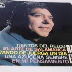 Discos de vinilo: RAFAEL FARINA / TIENTOS DEL RELOJ / ESTANDO DE JUERGA UN DIA + 3 (EP EMI 1970). Lote 247450985