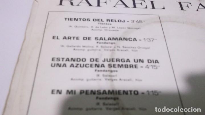 Discos de vinilo: RAFAEL FARINA / TIENTOS DEL RELOJ / ESTANDO DE JUERGA UN DIA + 3 (EP EMI 1970) - Foto 2 - 247450985