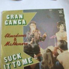 Discos de vinilo: SINGLE VINILO GRAN GANGA - ALMODOVAR & MCNAMARA - SUCK IT TO ME - 1982 - LABERINTO DE PASIONES. Lote 247457520