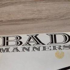 Discos de vinilo: BAD MANNERS SAMSON & DELILAH 3 TEMAS MAXI. Lote 247477905