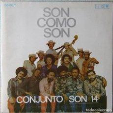 Discos de vinilo: CONJUNTO SON 14.SON COMO SON...EX..MUY RARO...ORIG CUBA. Lote 247487955