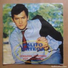 Discos de vinilo: SINGLE - PALITO ORTEGA - A: CORAZON CONTENTO - B: VOY CANTANDO - RCA - 1968. Lote 247489635