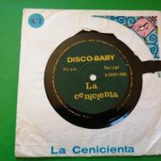 Discos de vinilo: LA CENICIENTA - DISCO. BABY. Lote 247506975