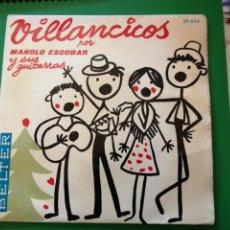 Discos de vinilo: VILLANCICOS POR MANOLO ESCOBAR. Lote 247508875