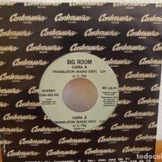 Discos de vinilo: BIG ROOM - TRANSLATOR (RADIO EDIT) + 1 - CONTRASEÑA RECORDS (1994). Lote 247516665