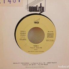 Discos de vinilo: RAM J - R.S.V.P (EDIT) + SCHLAG - QUALITY RECORDS (1990). Lote 247517860
