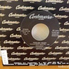 Discos de vinilo: FOOLISH HEART - FOOLISH HEART (RADIO MIX) + 1 - CONTRASEÑA RECORDS (1993). Lote 247520410