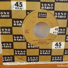 Discos de vinilo: RONALD REY - VIENTO DILE A LA LLUVIA + JENNY - SONORADIO - EDICIÓN PERUANA. Lote 247523130