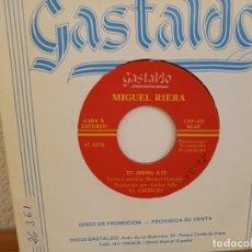 Discos de vinilo: MIGUEL RIERA - TU (DIOS) + 1 - DISCOS GASTALDO (1994). Lote 247527885