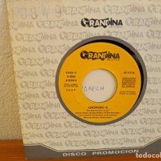 Discos de vinilo: ANÓNIMO K - MARRAKECH - GRANDINA RECORDS (1988) PROMO UNA SOLA CARA. Lote 247532910