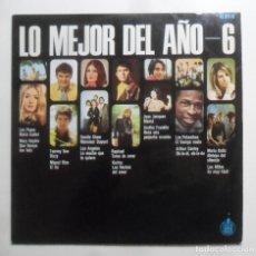 Discos de vinilo: LP - LO MEJOR DEL AÑO / 6 - LOS PAYOS/LOS ANGELES/KARINA/RAPHAEL/LOS MITOS… - HISPAVOX - 1969. Lote 247577035