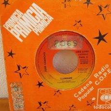 Discos de vinilo: JUAN CAMACHO - LLÁMAME + GOLONDRINA - CBS (1974). Lote 247590780