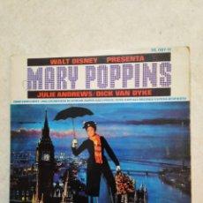 Discos de vinilo: MARY POPPINS, VINILO 45 RPM ( 4 TEMAS ) 1965. Lote 247610765