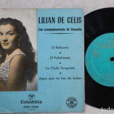 Discos de vinilo: LILIAN DE CELIS EL RELICARIO EP VINYL MADE IN SPAIN 1956. Lote 247642120