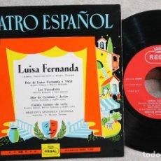 Discos de vinilo: LUISA FERNANDA TEATRO ESPAÑOL EP VINYL MADE IN SPAIN 1959. Lote 247642305