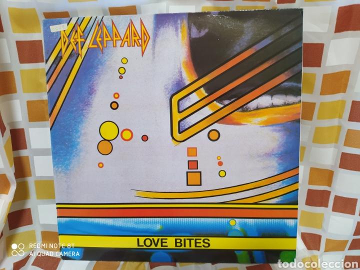 DEF LEPPARD -LOVE BITES - MAXI VINILO EDICIÓN ORIGINAL DE 1988 (Música - Discos de Vinilo - Maxi Singles - Heavy - Metal)