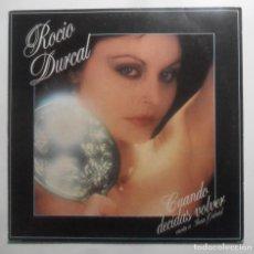 Discos de vinilo: LP - ROCIO DURCAL CANTA A JUAN GABRIEL - CUANDO DECIDAS VOLVER - ARIOLA - 1981. Lote 247677170