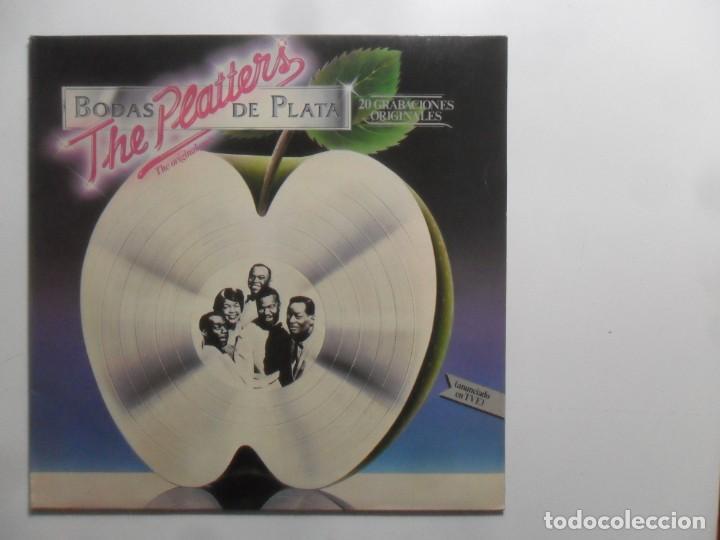 LP - THE PLATTERS, 20 GRABACIONES ORIGINALES - BODAS DE PLATA - MERCURY - 1981 (Música - Discos - LP Vinilo - Pop - Rock Internacional de los 50 y 60)