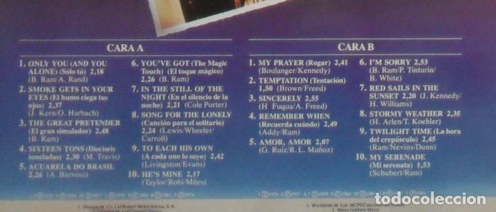 Discos de vinilo: LP - THE PLATTERS, 20 GRABACIONES ORIGINALES - BODAS DE PLATA - MERCURY - 1981 - Foto 2 - 247679790