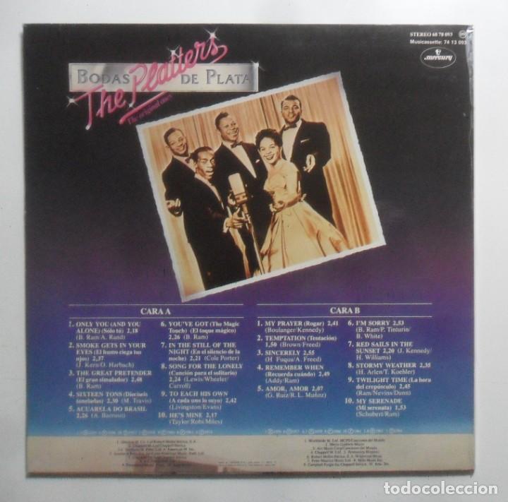 Discos de vinilo: LP - THE PLATTERS, 20 GRABACIONES ORIGINALES - BODAS DE PLATA - MERCURY - 1981 - Foto 3 - 247679790