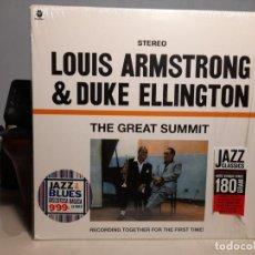 Discos de vinilo: LP LOUIS ARMSTRONG & DUKE ELLINGTON : THE GREAT SUMMIT ( PURE VIRGIN VINYL 180 GRAMS ). Lote 247696955