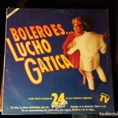 Discos de vinilo: DISCO DOBLE LP -LUCHO GATICA-24 BOLEROS ETERNOS- AÑO 1990. Lote 247698645