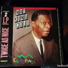 Disques de vinyle: DISCO DOBLE LP -NAT KINK COLE - EN ESPAÑOL. Lote 247705685