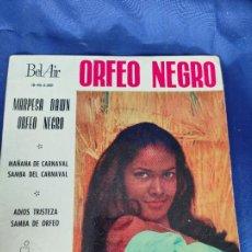 Discos de vinilo: B.S.O. MARPESA DAWN - ORFEO NEGRO, EP, MAÑANA DE CARNAVAL + 3, AÑO 1960. Lote 247712675