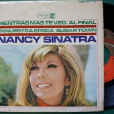 Discos de vinilo: EP: NANCY SINATRA - SUGAR TOWN + 3 (REPRISE, 1966) - LEER DESCRIPCIÓN - LEE HAZLEWOOD -. Lote 247747135
