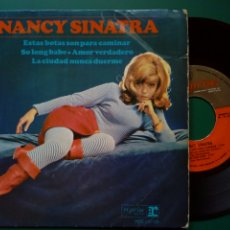 Discos de vinilo: EP: NANCY SINATRA - THESE BOOTS ARE MADE FOR WALKING + 3 (REPRISE, 1965) - LEE HAZLEWOOD -. Lote 247751985