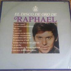 Discos de vinilo: *RAPHAEL - EL DISCO DE ORO DE RAPHAEL - LP AÑO 1968 - LEER DESCRIPCIÓN. Lote 247753450