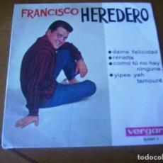 Discos de vinilo: EP : FRANCISCO HEREDERO / EX. Lote 247761955