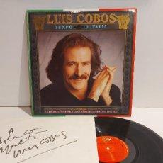 Discos de vinilo: FIRMADO !! LUIS COBOS / TEMPO D'ITALIA / LP - CBS-1987 / MBC. ***/***. Lote 247764395