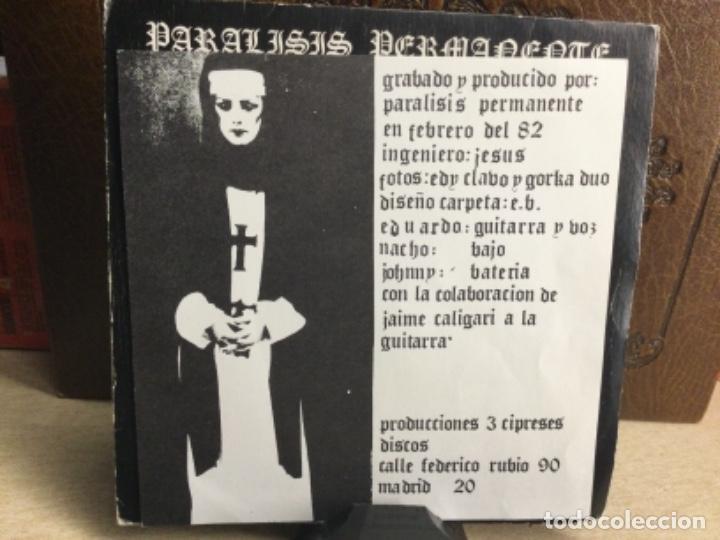 Discos de vinilo: PARÁLISIS PERMANENTE - QUIERO SER SANTA + HOJA INTERIOR - SINGLE 1982- ( 33 R.P.M. ) - Foto 3 - 247772920