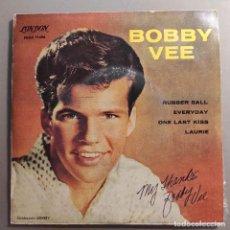 "Discos de vinilo: BOBBY VEE - RUBBER BALL / EVERYDAY / ONE LAST KISS / LAURIE · EP · 7"" · VINYL. Lote 247785290"