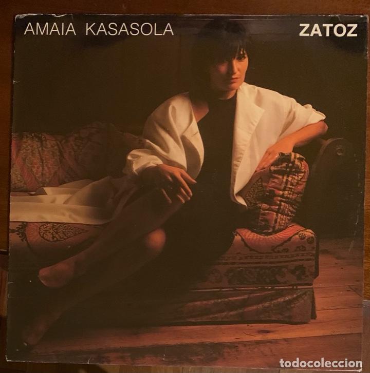 """AMAIA KASASOLA """"ZATOZ"""" LP TSUNAMI 1986 MUY RARO, VINILO COMO NUEVO (Música - Discos - LP Vinilo - Grupos Españoles de los 70 y 80)"""