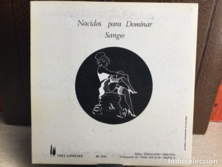 Discos de vinilo: PARALISIS PERMANENTE --NACIDOS PARA DOMINAR SANGRE- TRES CIPRESES- MADRID- 1983 - ( 45 R.P.M.) - Foto 2 - 247804410