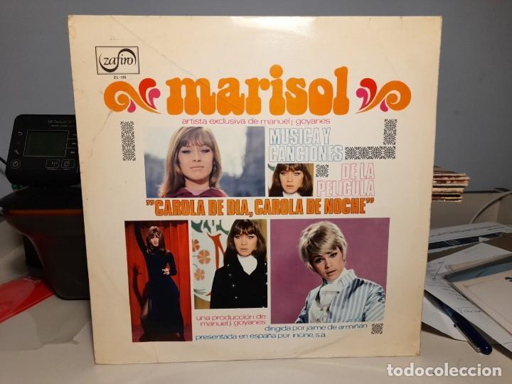 LP MARISOL : CAROLA DE DIA, CAROLA DE NOCHE ( CONTIENE UNA CANCION INTERPRETADA POR VAINICA DOBLE ) (Música - Discos - LP Vinilo - Bandas Sonoras y Música de Actores )