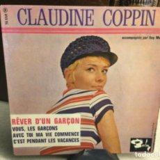 Discos de vinilo: CLAUDINE COPPIN - ACCOMPAGNEE PAR GUY MOTTA - ( 45 R.P.M.). Lote 247971225