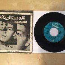"Discos de vinilo: PAUL MCCARTNEY - SUBIENDO (COMING UP) - RADIO PROMO SINGLE 7"" - 1980 THE BEATLES. Lote 248045185"