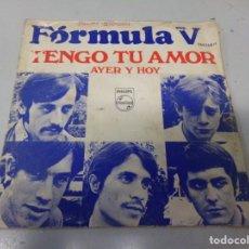 Discos de vinilo: DISCO FORMULA V - TENGO TU AMOR. Lote 248076220