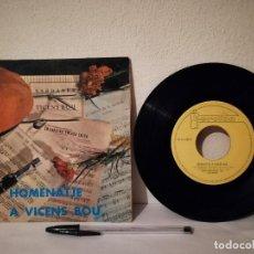 Discos de vinilo: ANTIGUO SINGLE - COBLA MARAVELLA - HOMENATJE A VICENS BOU - SARDANAS. Lote 248108410