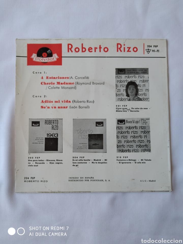 Discos de vinilo: Roberto Rizo 4 estaciones EP VG+ - Foto 2 - 248134710