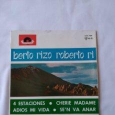 Discos de vinilo: ROBERTO RIZO 4 ESTACIONES EP VG+. Lote 248134710