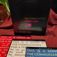 Discos de vinilo: THE COMMUNARDS /STORM PARIS/ CARPETA CON 3 DISCOS. Lote 248167230